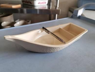 Boat Shape Melamine Plate Mangkuk Piring Kitchen