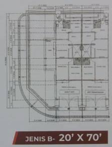 Teres 1400 -1800 sqft batu gajah, full loan gov / swasta