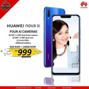 New Huawei nova 3i [ 4+128gb ] M'sia set