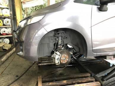 Front and rear brake disc 12 inci honda jazz gk