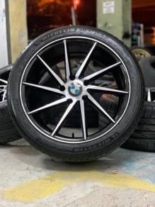 Vossen cvt 18 inch sports rim bmw f30 tyre 70%