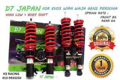D7 JAPAN Wira Persona Gen2 Waja Hi Low Adjustable