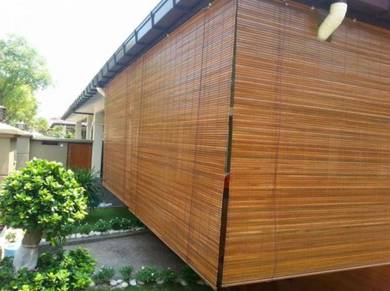 Bidai Buluh, Bamboo Blind Tahan Hujan& Panas Cuaca
