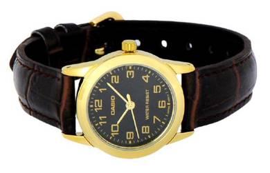 CASIO Ladies Analog Leather Watch LTP-V001GL-1BUDF