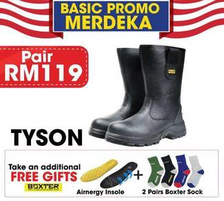 Merdeka promo safety shoes get free socks