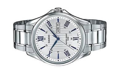 CASIO Men Stainless Steel Date Watch MTP-1384D-7A2