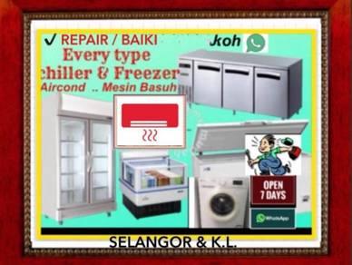 Repair Peti Ais Chiller Freezer Sejuk Basuh Baiki