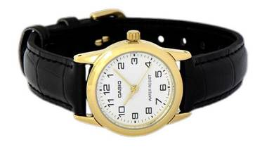 CASIO Ladies Analog Leather Watch LTP-V001GL-7BUDF