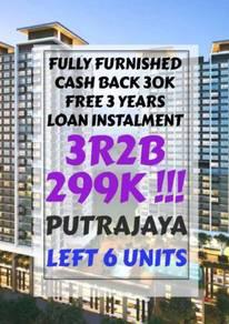 [Fully Furnished]3R2B 299K!!! Affordable Home For All Buyer Putrajaya