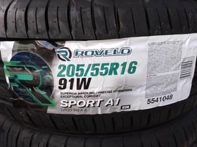 205/55/16 Rovelo Sport A1 Tyre Tayar
