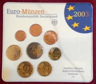 Coin Euro 2003 Set Card 8 Value N80ynwOvm