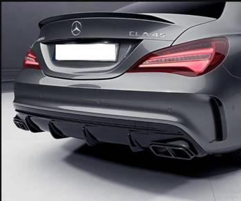 Mercedes W117 CLA45 Rear Bumper Canard