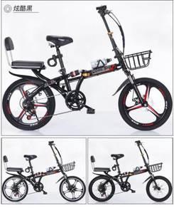"20"" folding bike dual suspension 7 speed"