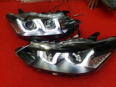 Toyota vios led projector head lamp light headlamp