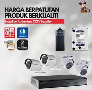 Pakej Wired/ Wireless CCTV Full HD Terbaik Penang