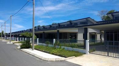 Newly completed single storey terrace houses at Tuaran