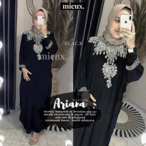 Kaftan Ariana jubah Abaya mint black blue red pink