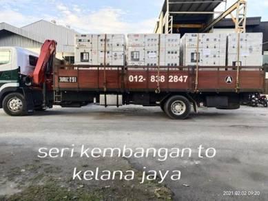 Lori Crane Kren 3,5,10,15 ton Low Loader Sewa