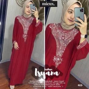 Isyara kaftan Abaya green purple nude red gold