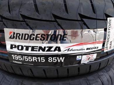 195/55/15 Bridgestone Potenza RE003 Tyre 2019Tayar