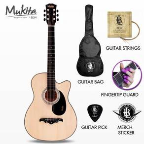 38INCH Mukita by BLW Guitar Acoustic Package - Nat