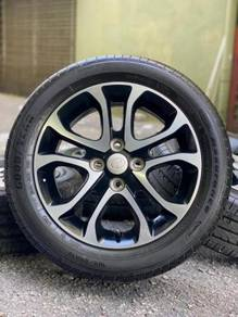 ORIGINAL 15 inch sports rim MYVI tyre 70%