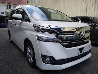 Toyota vellfire 2.5 x spec unregistered 2016