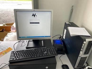 Mesin Cashier POS System Kaunter Cash Register PTH