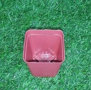 1 PCS Flower Pot square 7cm (Brown)