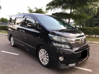 Toyota vellfire 2.4 2014 fu loan,warranty up 1year