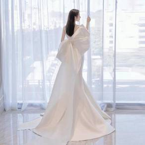 White wedding prom evening dress gown RB2349