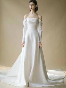 White wedding prom evening dress gown RB2348