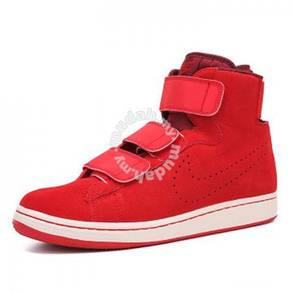 Nike reflective suede high-top shoes