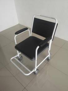Commode chair with backrest and foot rest shop