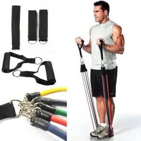 11Pcs Resistance Exercise Band Elastic Stretch Gym