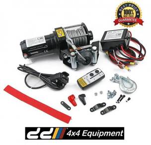 12v 3000lbs electric winch steel cable 4x4 4wd