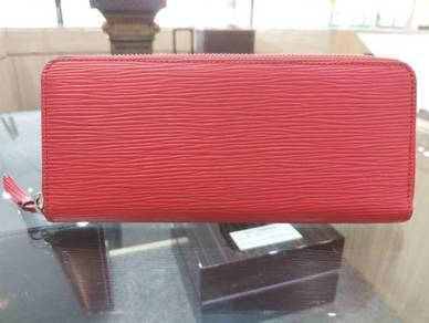LV Red Epi Leather Zippy Wallet