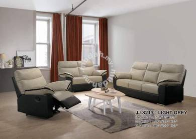 Casa leather 3+2+1recliner sofa