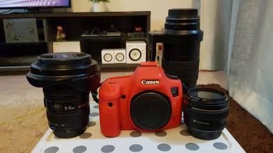 Canon EOS 6D + wide angle, macro & portrait lenses