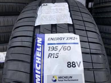 Tayar baru 195 60 15 Michelin Xm2plus 2021 new tyr