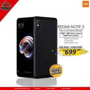New Xiaomi Note 5 [ 4+64GB ] M'sia Set Promo Set