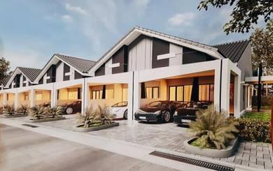 Rumah Teres 1 Tingkat 20'x70' 4 bilik ,berpagar & sekuriti di Tasek