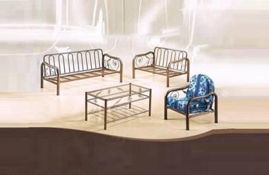 Set Metal Sofa Settee Rumah Ruang Tamu