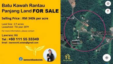 Batu Kawah Rantau Panjang Land For Sale