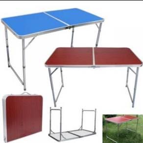 Meja lipat 4x2 picnic dan outdoor aluminium