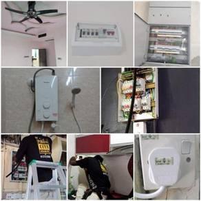 Repair Wiring / Elektrikal Pasang Lampu Bracket TV