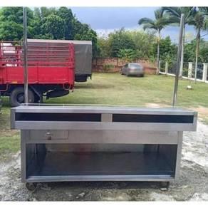 Solid Stainless Steel Food Display Cart