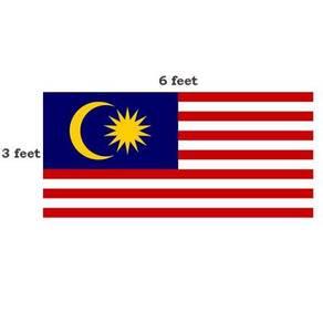 Malaysia Flag Bendera Malaysia 3feet x 6feet