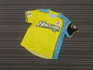 Hokkaido yellow sublimation baseball jerseys L
