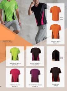 V-Neck Sportswear T-Shirt Polyester